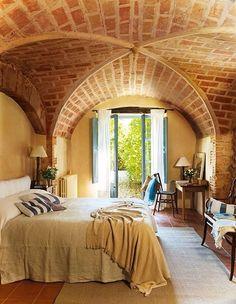 Spanish style homes – Mediterranean Home Decor Spanish Style Homes, Spanish House, Brick Architecture, Interior Architecture, Cellar Design, Mediterranean Home Decor, Bohemian House, House Blueprints, Stone Houses