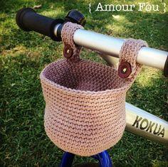 FREE PATTERN: Crochet basket for kids' walking bike. By {Amour Fou}