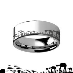Hey, I found this really awesome Etsy listing at https://www.etsy.com/listing/223179927/star-wars-ring-8mm-landscape-hoth-battle