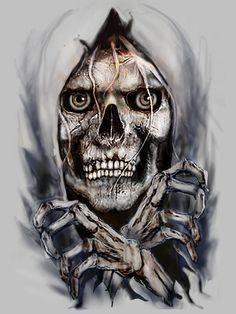 """Skull Breaking Out"" by Rjrazar1 @ deviantart ☠️"