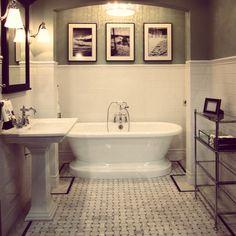 The classic Basket-weave mosaic floor tile