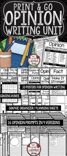 Opinion Writing Unit