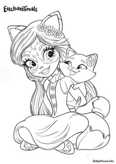 Felicity Fox and Babbie Flick - high-quality free coloring from the category: Enchantimals. More printable pictures on our website: BabyHouse.info!
