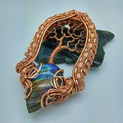 Hand made wire wrapped jewelry and acrylic by CooksCustomArtwork
