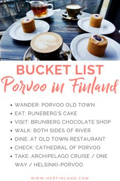 Porvoo Finland, is famous for its adorable old town and mouthwatering almond cakes. Here's what to do in Porvoo and how to get there from Helsinki! Finland Destinations, Holiday Destinations, Helsinki Things To Do, Finland Culture, Kingdom Of Sweden, Visit Helsinki, Les Fjords, Finland Travel, Chocolate Shop