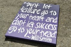 Will Smith Quote on 11x14 Canvas on Etsy