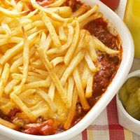 Cheeseburger and Fries Casserole - I think I'd like this better if I used ketchup instead of tomato paste.