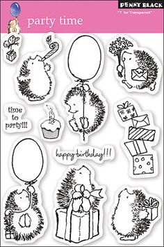 Penny-Black-Clear-Stamps-5-Inch-X-7-5-Inch-Sheet-Party-Time-759668300495