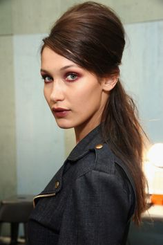 """Bella Hadid backstage at Anna Sui S/S 2017 """