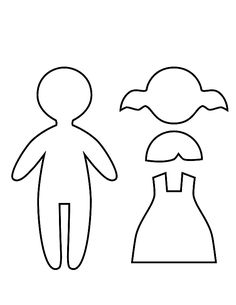 Paper Doll Templates – coloring.rocks!