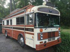 Bus Camper, Campers, Bluebird Buses, Cool Rvs, School Bus Conversion, Trike Motorcycle, Tent Camping, Motorhome, Blue Bird