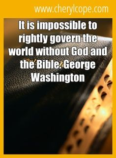 So very true...oh our nation is headed for certain destruction without the Bible as its guide.