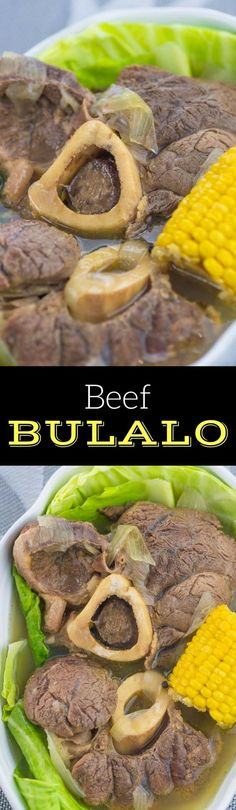 Beef Bulalo is a Filipino Beef Shank Soup with clear broth. This recipe makes use of cabbage and sweet corn. #filipinorecipes #panlasangpinoy #pinoy #filipino #beefshank #beefrecipes #beefsoup