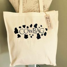 Cowbag Tote shopper bag cotton shopping by TheCottonBobbins