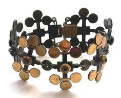 Pentti Sarpaneva Finland - Vintage Bronze Bracelet from Leaf Collection - Signed #SarpanevaJewelry