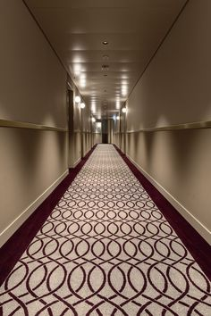 The corridor of Hotel Walhalla, St Gallen. Colortec carpets from Dansk Wilton. St Gallen, Conference Facilities, Beautiful Hotels, Corridor, Old And New, Carpets, Animal Print Rug, Stairs, Home Decor