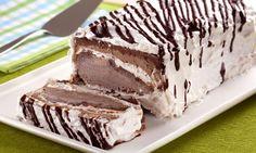 Pavê de sorvete de chocolate e marshmallow