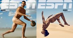 "'ESPN The Magazine' shows the ""differences in body types"" for each sport in its seventh annual Body Issue."