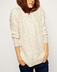 Image 3 of ASOS Aran Sweater