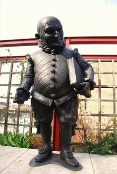 British Library - Mr Punch Statue At The British Library  -  London, England