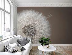 nl media catalog product cache 6 image d a dandelion_woonkamer_behang_web. Decor, Wallpaper Bedroom, Home Living Room, White Wooden Floor, Interior, Home Deco, Interior Design, Home And Living, Home Wallpaper