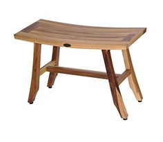 28 EcoDecors EarthyTeakTM Satori Teak Shower Bench Patent Pending ** Click the image to view the details