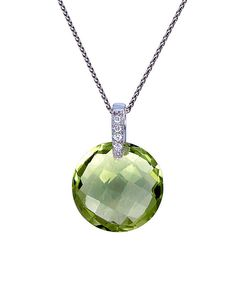 Look at this Lemon Quartz Round Pendant Necklace on #zulily today!
