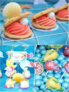 "Under The Sea Birthday Party Cake Pops #cakepops #birthdays: Evelyn likes this because ""it has so much candy and it looks #Party Goods #Party Accessories"