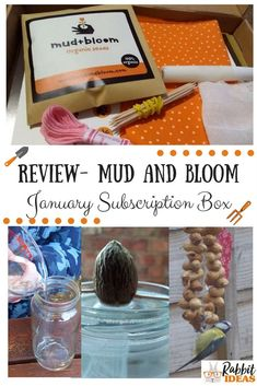 Review- Mud and Bloom January box - Rabbit Ideas #outdoors #gardeningwithkids #outdoorliteracy