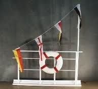 Ship Rail with Flags & Life Preserver - Various Sizes & Colors ( - Props Unlimited Events LLC Cruise Theme Parties, Cruise Ship Party, Party Themes, Party Ideas, Caribbean Theme Party, Cruise Ships, Theme Ideas, Camping Parties, Camping Theme
