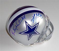 Troy Aikman  Michael playmaker Irvin Signed Dallas Cowboys Mini Helmet Gtsm  GTSM Certified  Autographed NFL Mini Helmets ** Click image to review more details. (This is an affiliate link and I receive a commission for the sales)