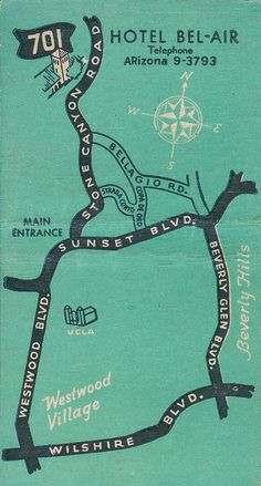 Hotel Bel Air map by jericl cat, via Flickr