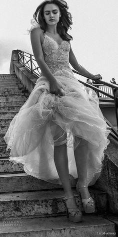 liz martinez 2018 bridal thin strap sweetheart neckline full embellishment tulle skirt romantic soft a  line wedding dress (14) mv -- Liz Martinez 2018 Wedding Dresses