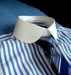 High Collar Shirts, Shirt Collar Styles, Gents Fashion, Mens Fashion Suits, Mens Dress Hats, Men Dress, Contrast Collar Shirt, Beard Suit, Best Dress Shirts
