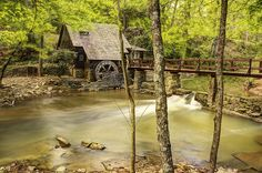 Mountain Brook Mill, by Brad Lackey The Old Mill was once a tea room and real estate office during the original building of Mountain Brook, Alabama--a town just outside Birmingham, Alabama.