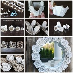 Egg Carton Craft-Recycle Egg Cartons into Beautiful Rose