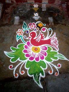 Simple Rangoli Border Designs, Simple Flower Rangoli, Indian Rangoli Designs, Rangoli Designs Latest, Rangoli Designs Flower, Free Hand Rangoli Design, Small Rangoli Design, Rangoli Ideas, Rangoli Designs Images