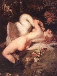 Leda and the Swan by Heinrich Lossow