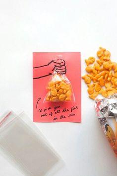Goldfish valentine printables