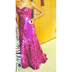 prom gown Host pick 3/5 Gorgeous sequined prom gown with mermaid bottom. Maroon with light pink swirled design. Sequins all over. Has a sattin sash with gorgeous brooch Dresses Prom
