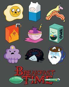 Que horas são? Hora do café da manhã!