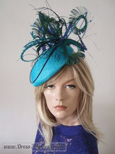 "Turquoise, Blues and Green Peacock & Pheasant Feathered Beret Headpiece Hat - ""Marissa"" FG2711 by Dress2ImpressEtsy on Etsy https://www.etsy.com/listing/212930064/turquoise-blues-and-green-peacock"
