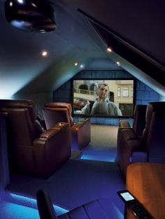 lofty Media Room/ Home Theater