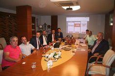 Erdem Çelik, Şuayip Özden Güven, Cihanbey Deri-Mehmet Ali Akbarlak MENEMEN TİCARET ODASI ziyareti esnasında.