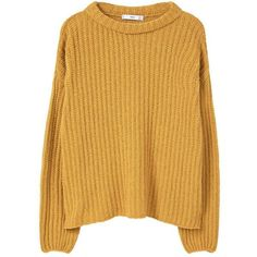 Textured Cotton-Blend Sweater ($37) ❤ liked on Polyvore featuring tops, sweaters, shirts, jumpers, chunky cable knit sweater, long sleeve jumper, textured sweater, cable jumper and cable knit sweater