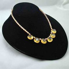 #Lemon Drop necklace   #citrine #necklace  Repin, Like, Share!  Thanks!