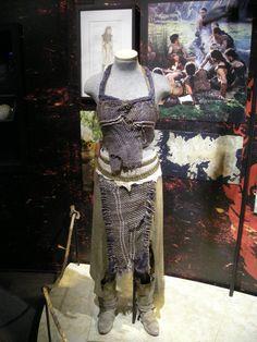 Daenerys Game of Thrones Season 1 Dothraki Desert Khaleesi Leather Skirt  Image References for Custom Order Cosplay by Walker & White http://www.walkerandwhitestudio.com/ & https://www.etsy.com/shop/WalkerAndWhite