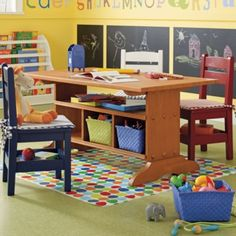 Elementary Table (Lt. Honey)   NEED this table and these chairs for our school room!