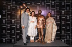 Legendary actor Rajesh Khanna's statue  which happens to be one of his iconic poses from his film Anand.