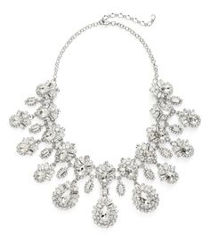 Mesmerized by the tiers of stunning, sparkling crystals on this eye catching bib necklace.
